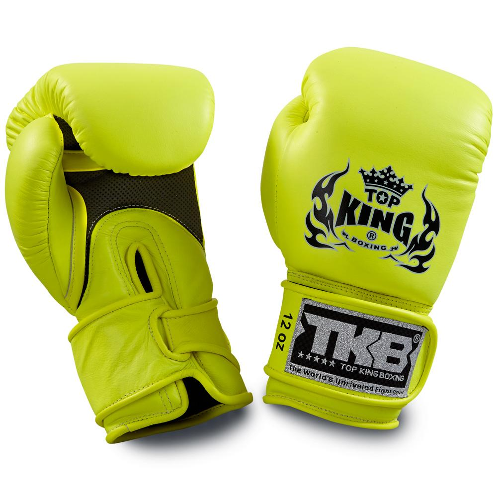 "Top King Neon Yellow ""Double Lock"" Boxing Gloves [Air Version]"