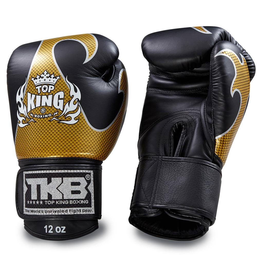 "Top King Black / Gold ""Empower"" Boxing Gloves"