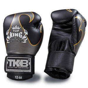 "Top King Black / Silver ""Empower"" Boxing Gloves"