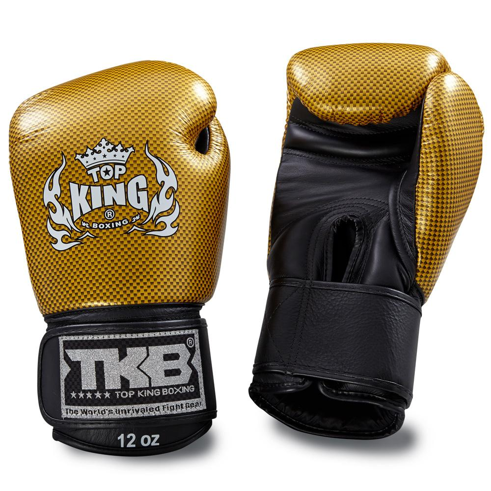 "Top King Gold / Black ""Empower"" Boxing Gloves"