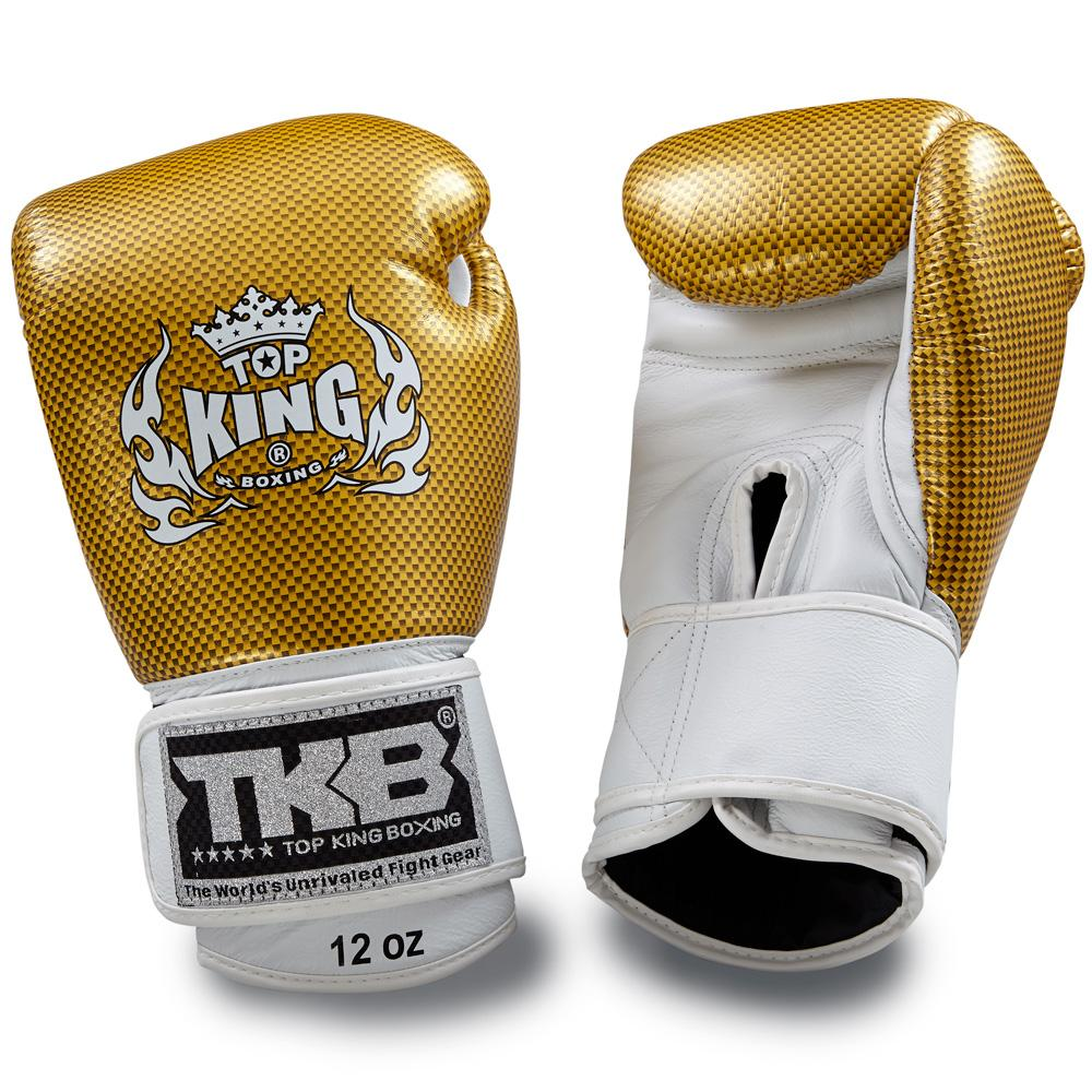 "Top King Gold / White ""Empower"" Boxing Gloves"