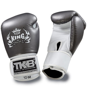 "Top King Silver / White ""Empower"" Boxing Gloves"