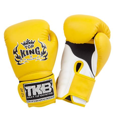 "Top King Yellow / White ""Super Air"" Boxing Gloves"