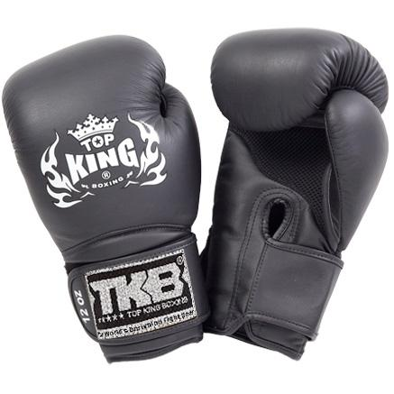 "Top King Black ""Super Air"" Boxing Gloves"
