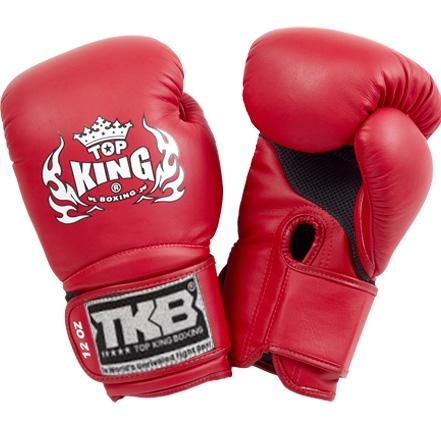 "Top King Red ""Super Air"" Boxing Gloves"