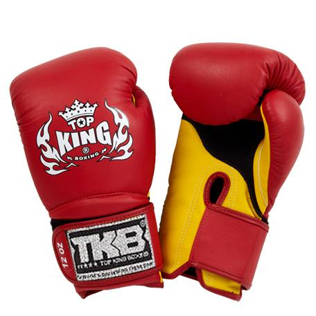 "Top King Red / Yellow ""Super Air"" Boxing Gloves"