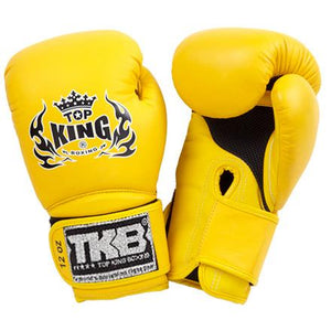 "Top King Yellow ""Super Air"" Boxing Gloves"