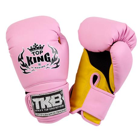 "Top King Pink / Yellow ""Super Air"" Boxing Gloves"