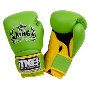 "Top King Green / Yellow ""Super Air"" Boxing Gloves"