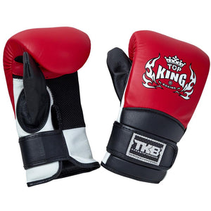 Top King Red Triple Tone Bag Gloves with Closed Thumb