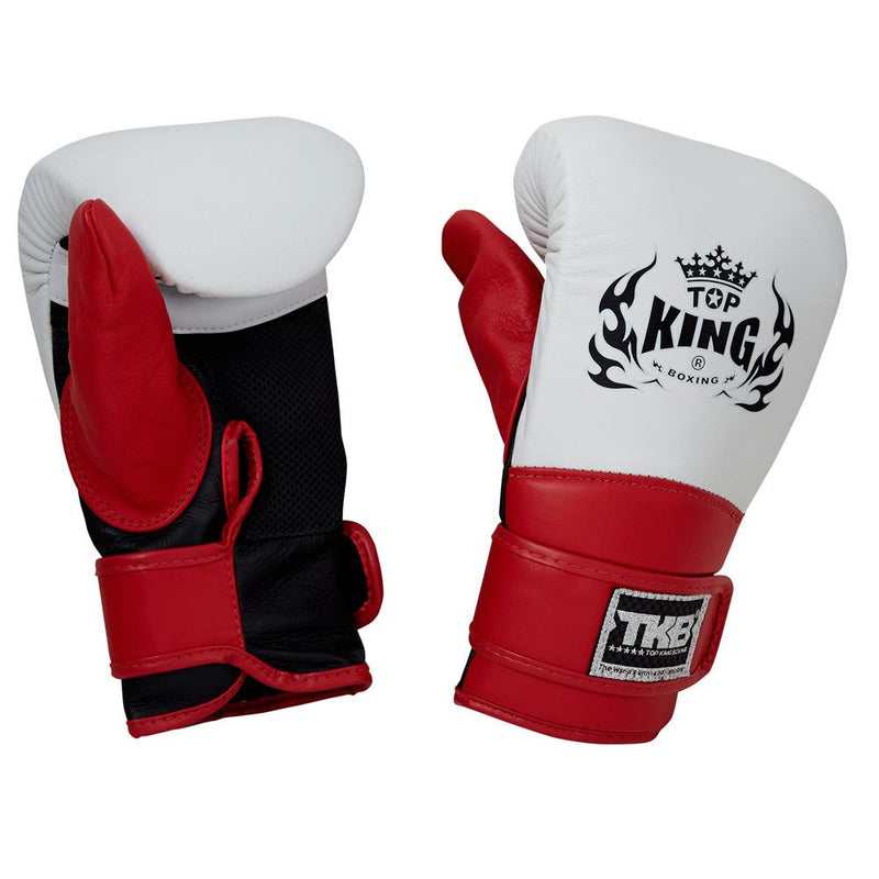 Top King White Triple Tone Bag Gloves with Closed Thumb