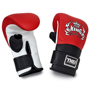 Top King Red Triple Tone Bag Gloves with Open Thumb