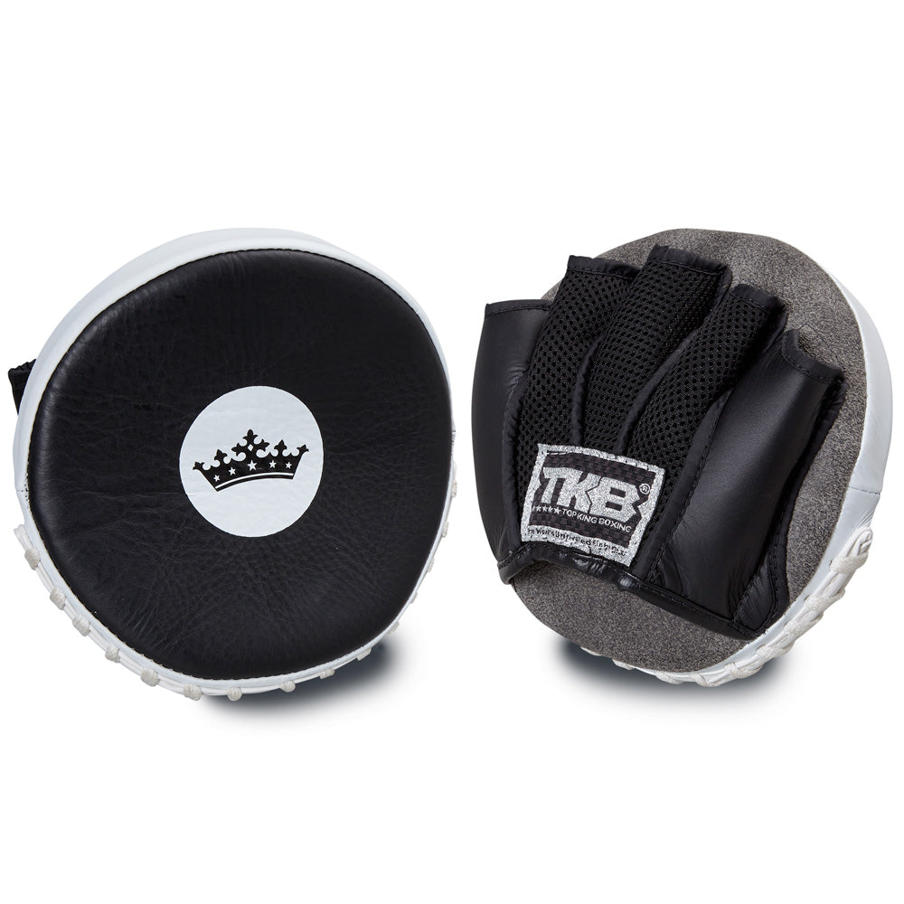 "Top King Black / White ""Circular"" Focus Mitts"