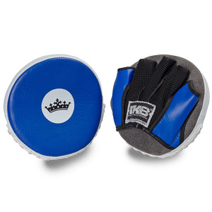 "Top King Blue / White ""Circular"" Focus Mitts"