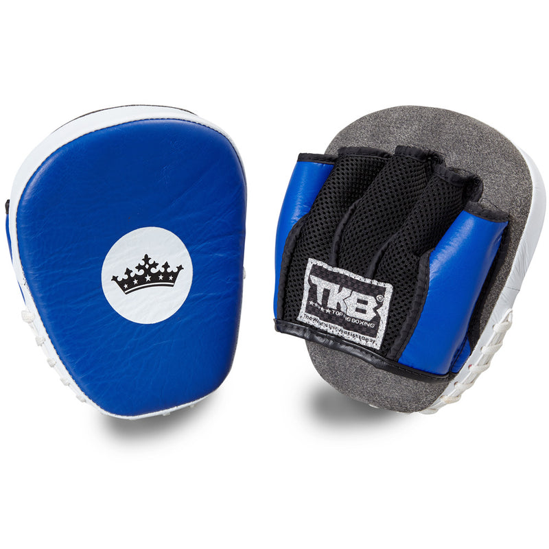 "Top King Blue / White ""Light-Weight"" Focus Mitts"