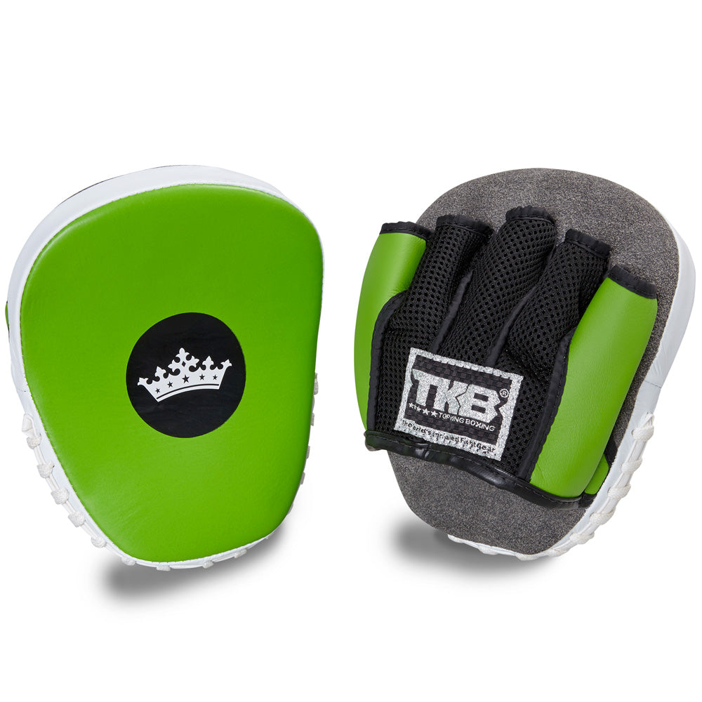 "Top King Green / White ""Light-Weight"" Focus Mitts"