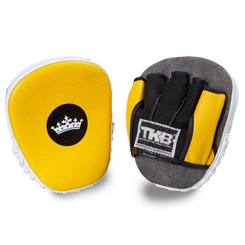 "Top King Yellow / White ""Light-Weight"" Focus Mitts"
