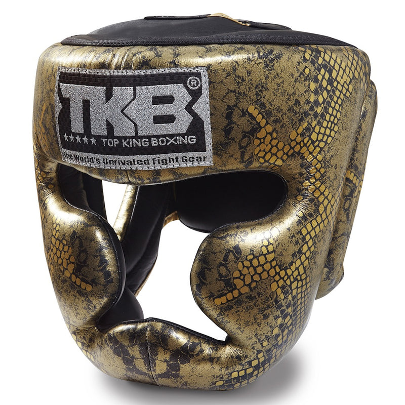 "Top King Gold / Black ""Snake Edition"" Head Guard"