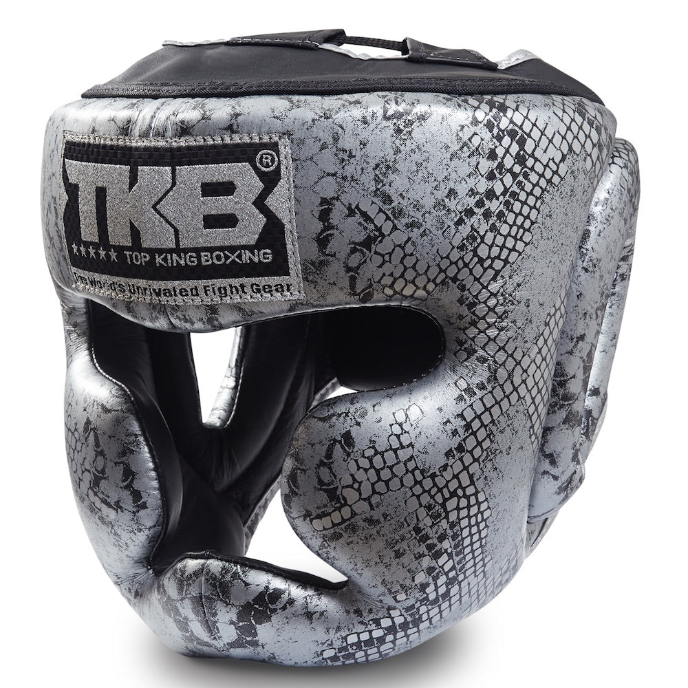 "Top King Silver / Black ""Snake Edition"" Head Guard"