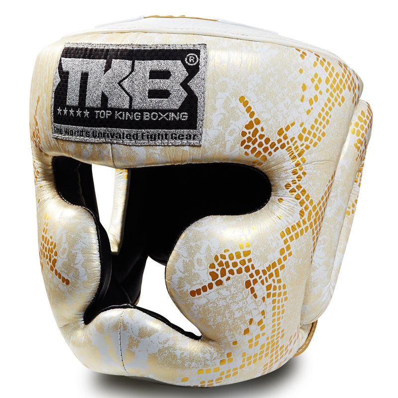 "Top King Gold / White ""Snake Edition"" Head Guard"