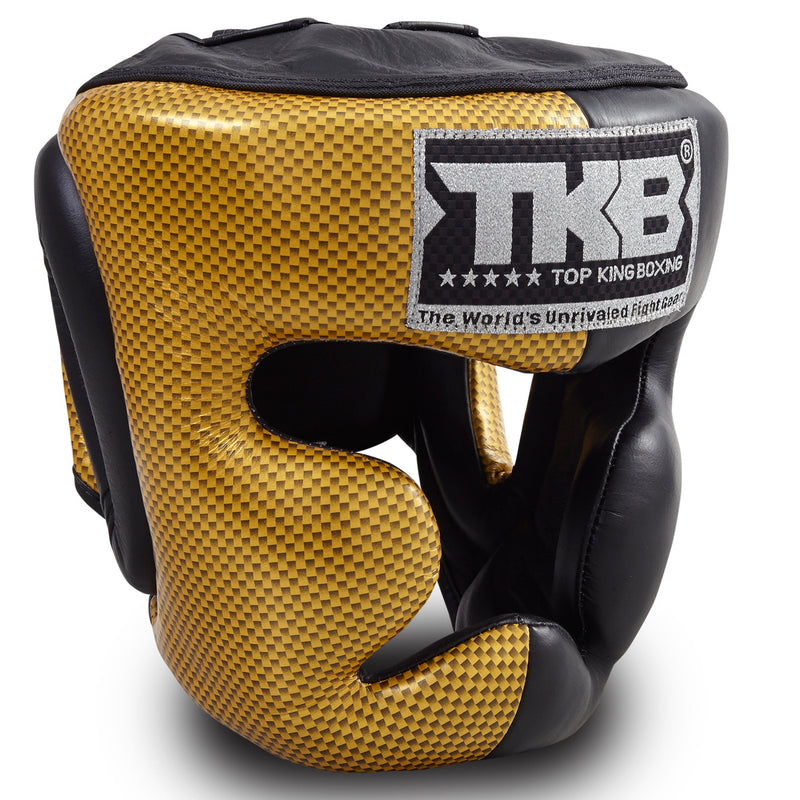 "Top King Gold / Black ""Empower 02 Edition"" Head Guard"