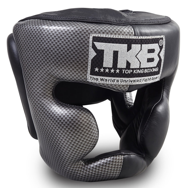 "Top King Silver / Black ""Empower 02 Edition"" Head Guard"