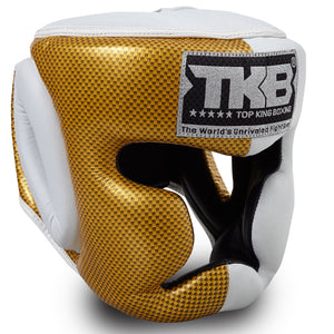 "Top King Gold / White ""Empower 02 Edition"" Head Guard"