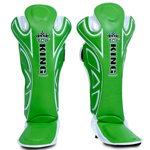 "Top King Green ""Super"" Shin Guards ***Full Leather***"