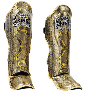 "Top King Gold / Black ""Snake"" Shin Guards"