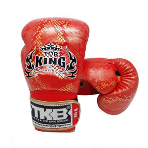 "Top King Gold / Red ""Snake"" Boxing Gloves"