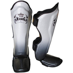 "Top King Silver ""Super Star"" Shin Guards"