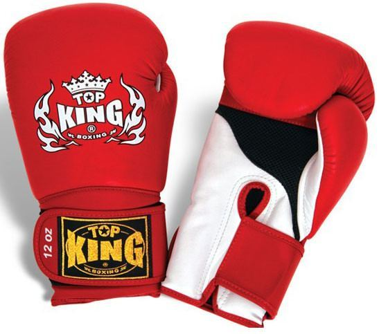 "Boxing Gloves - Top King Red / White ""Super Air"" Boxing Gloves"