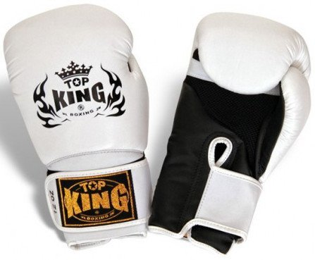 "Boxing Gloves - Top King White / Black ""Super Air"" Boxing Gloves"