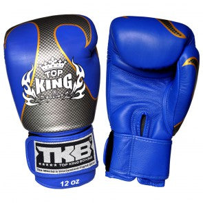 "Top King Blue / Silver ""Empower"" Boxing Gloves"