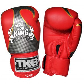 "Top King Red / Silver ""Empower"" Boxing Gloves"