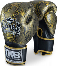 "Top King Gold / Black ""Snake"" Boxing Gloves"