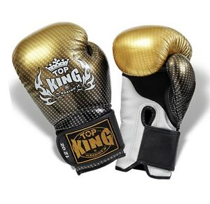"Top King Gold ""Super Star"" Boxing Gloves"