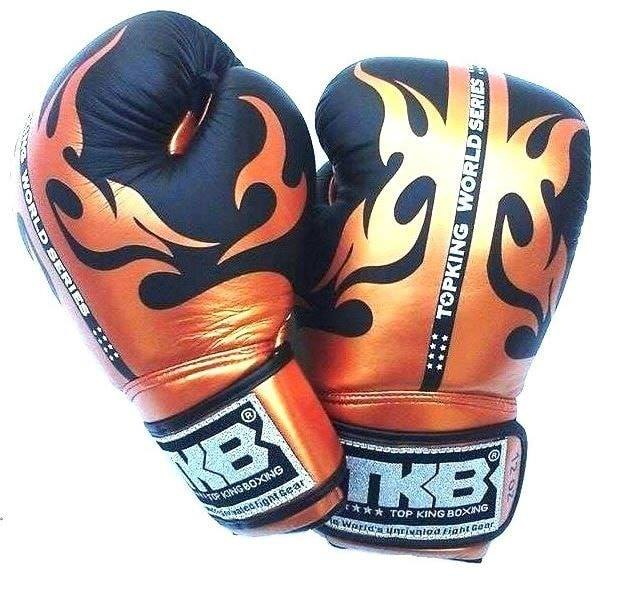 "Top King Black / Gold ""World Series"" Boxing Gloves - Velcro"