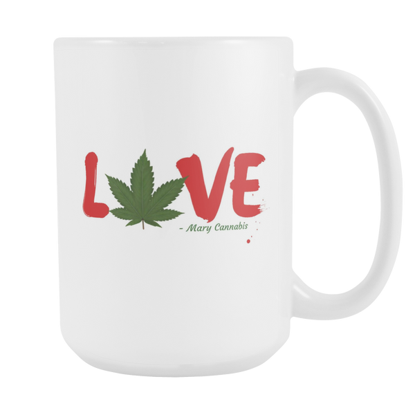 LOVE - Mary Cannabis Large Mug - Schwag420 - 1