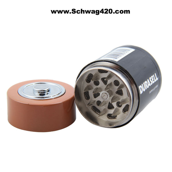3-Part Durasell Battery Grinder - Schwag420 - 1