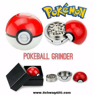 "3-Piece ""Pokemon Pokeball"" Grinder - Schwag420.com"