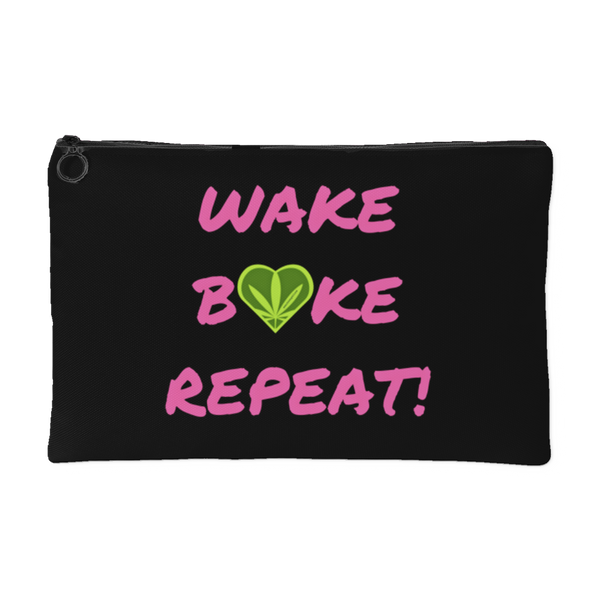 """WAKE, BAKE, REPEAT""  Accessory Pouches - Schwag420 - 1"
