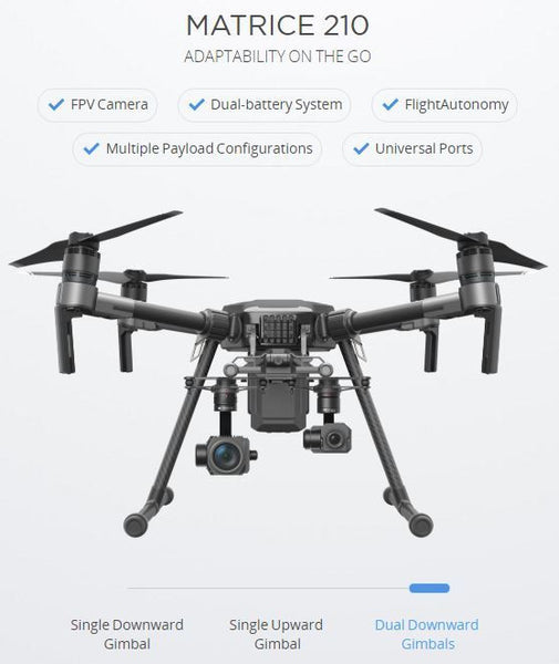 DJI Matrice 210 (M210) Commercial/Industrial Drone