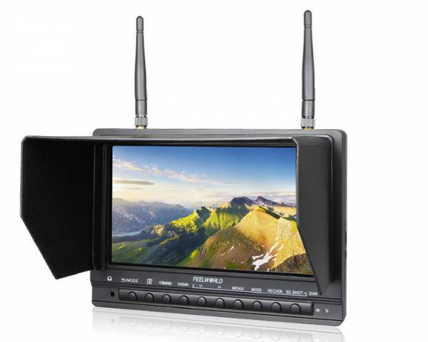FeelWorld 7-inch 5.8Ghz 32CH Wireless FPV Monitor with HDMI and DVR