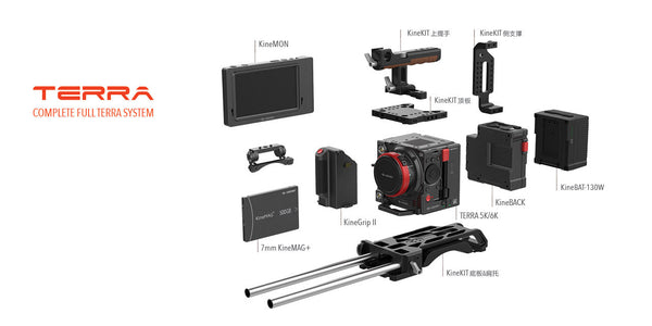Kinefinity Terra 6k Pro Pack with Kinemount (no lens adaptor)