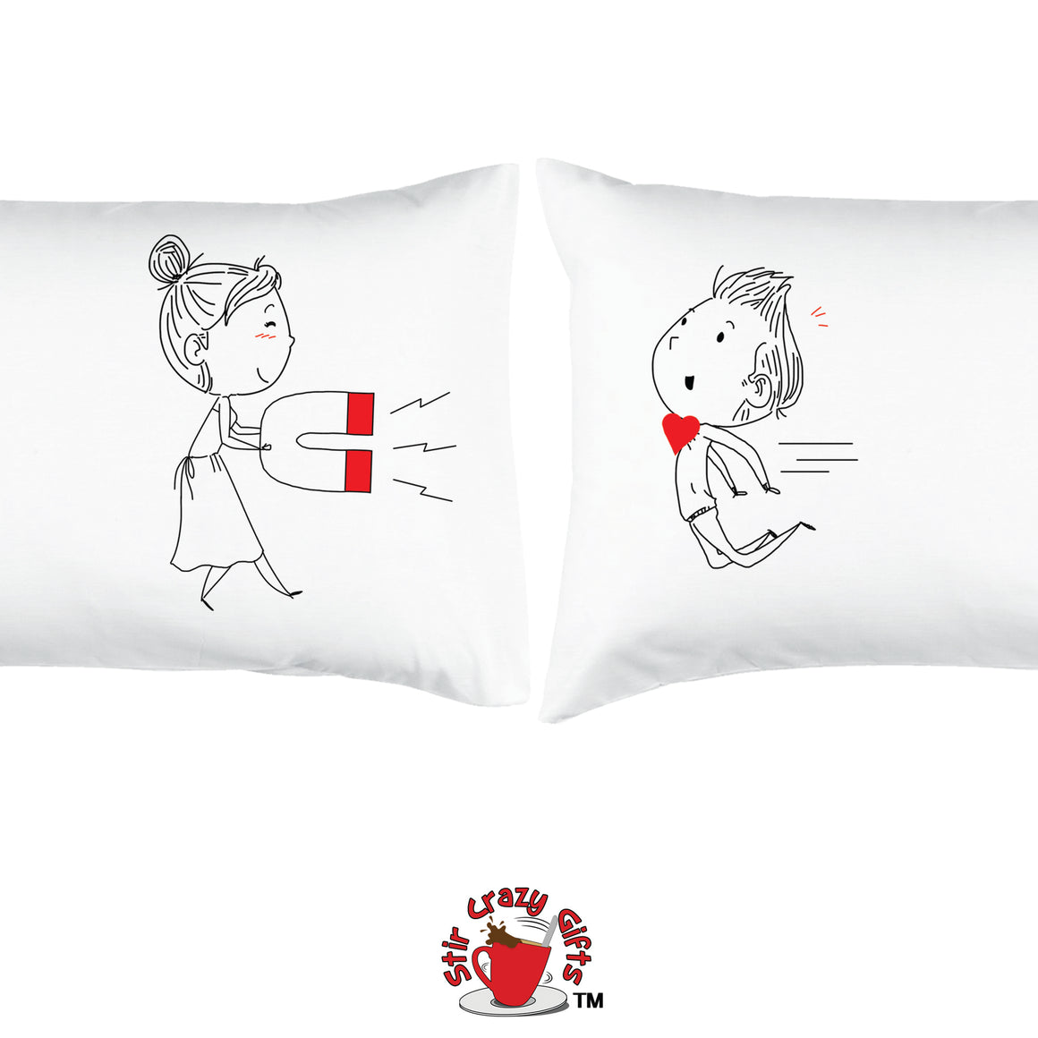 PERSONALIZED!! COME HERE DARLING - ROMANTIC COUPLE PILLOWCASES - 2 SETS