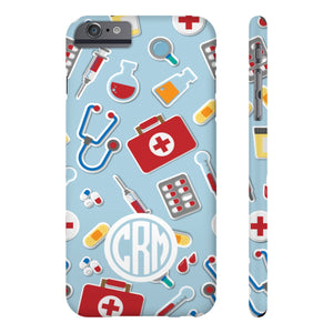 Monogram Add Your Initials Medical Icon Phone Cases - Stir Crazy Gifts
