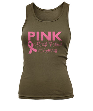Think Pink Breast Cancer Awareness Tank Top, Unisex
