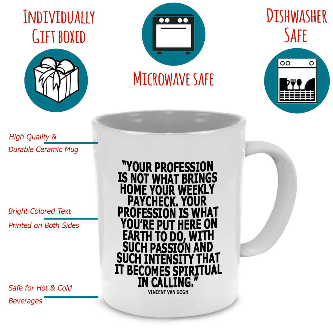 Funny Nursing Quotes Gifts for Doctors and Nurse Practitioner Gift Mug - Printed on Both Sides!