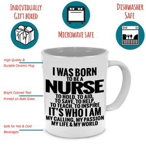 Funny Unique Nurse Coffee Mug - Cool Gift for Registered, Practitioner, Student, Certified Nursing Assistant - Printed on Both Sides